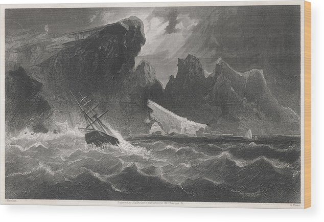Kane Wood Print featuring the drawing Elisha Kent Kane's Arctic Expedition by Mary Evans Picture Library