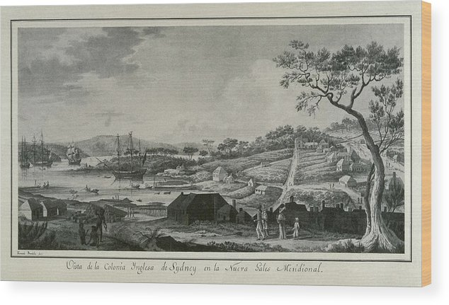 Horizontal Wood Print featuring the photograph Australia 18th C.. English Colony by Everett