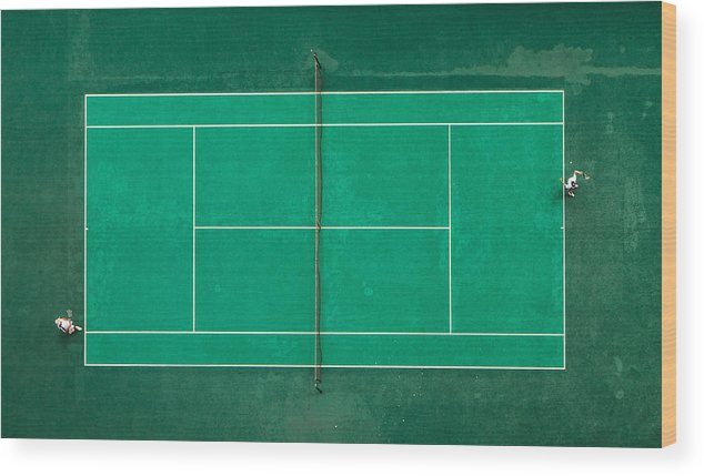 Tennis Wood Print featuring the photograph Game! Set! Match! by Fegari