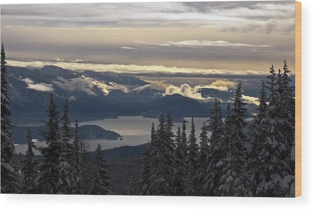Lake Pendoreille Wood Print featuring the photograph Hawkins Point by Randolph Fritz