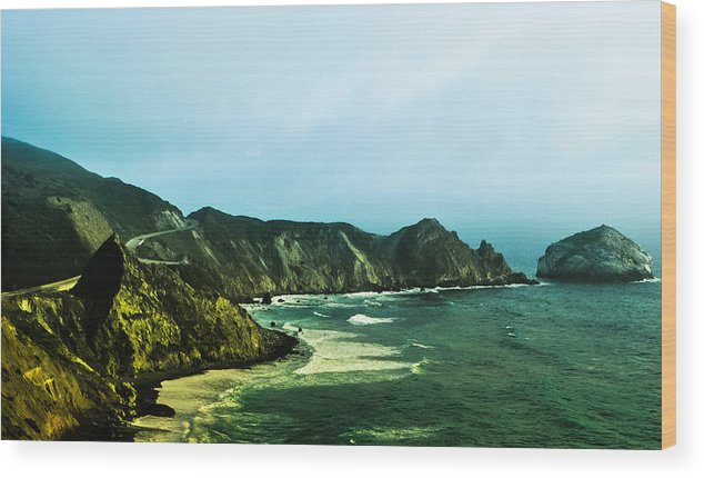 Highway 1 Wood Print featuring the photograph Highway 1 by AR Harrington Photography
