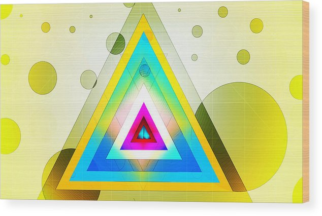 Wood Print featuring the digital art Retrosync by Paul Griffin