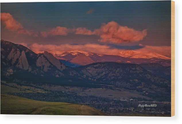 Boulder Wood Print featuring the photograph Sun And Snow by Sanjoy Basu