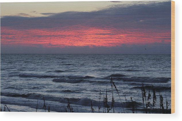 Topsail Beach Wood Print featuring the photograph Textured Sky by Rand Wall