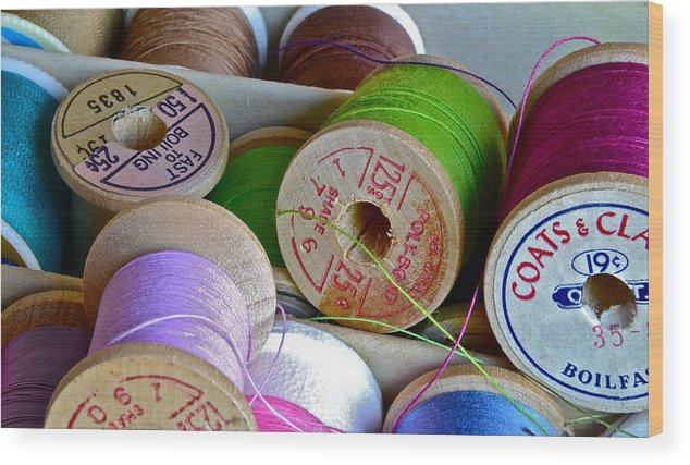 Spools Wood Print featuring the photograph More Loose Threads by Bill Owen