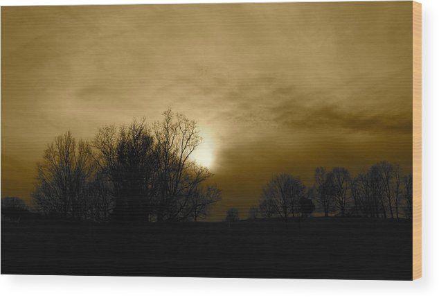 Sunset Wood Print featuring the photograph Sunset 2 by Kume Bryant