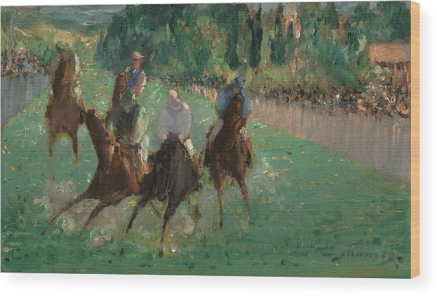 Europe Wood Print featuring the painting At The Races by Edouard Manet