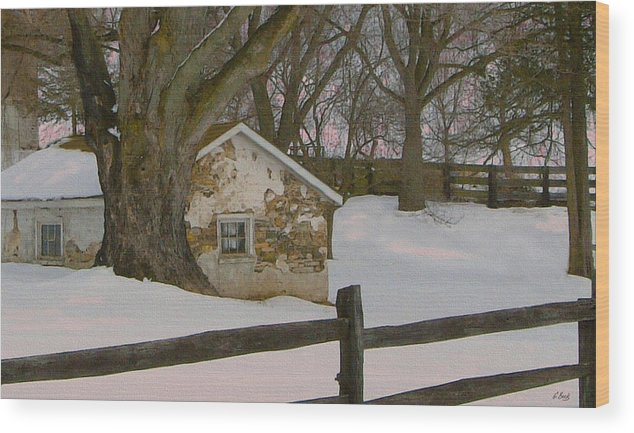 Brandywine Wood Print featuring the photograph A Brandywine Winter by Gordon Beck