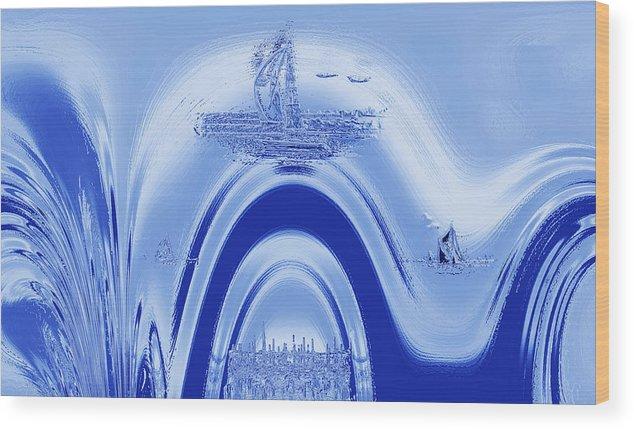 Atlantis Wood Print featuring the digital art Above Atlantis. by Terence Davis