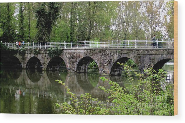 Bruges Wood Print featuring the photograph Bruges Bridge 2 by Randall Weidner