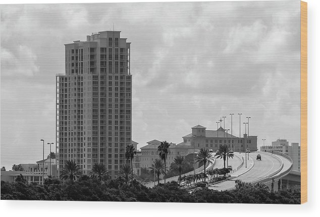Photo For Sale Wood Print featuring the photograph Clearwater Causeway by Robert Wilder Jr