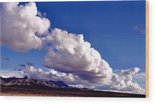 Landscape Wood Print featuring the photograph Clouds Marching by Randy Oberg