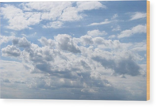 Clouds Wood Print featuring the photograph Cloudy by Rhonda Barrett