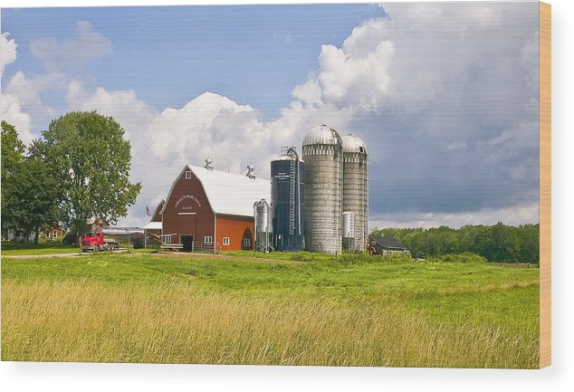 Farm Wood Print featuring the photograph Dairy Farm by Pat Carosone