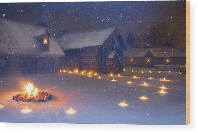 Candlelight Wood Print featuring the photograph First Light by John Bartosik