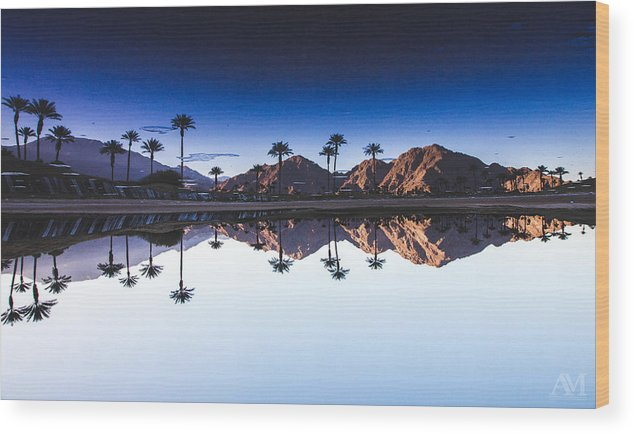 Palm Springs Wood Print featuring the photograph Palm Springs Reflection by Andrew Mason