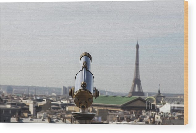 Paris Wood Print featuring the photograph Paris City View 28 by Alex Art and Photo