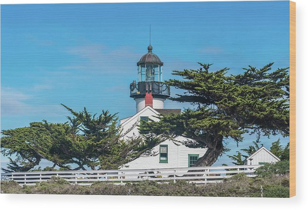 Coastal Wood Print featuring the photograph Point Pinos Lighthouse by David A Litman