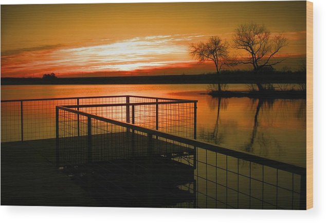 Landscapes Wood Print featuring the photograph Sunrise In The Park by Robert Clark