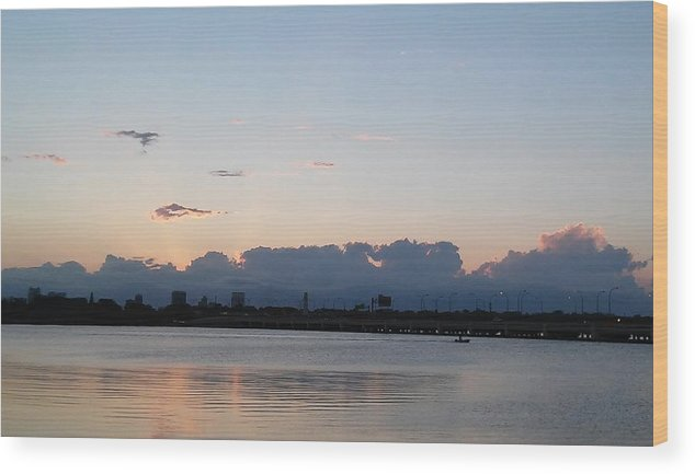Wood Print featuring the photograph Sunset At The Lake7 by John Hiatt
