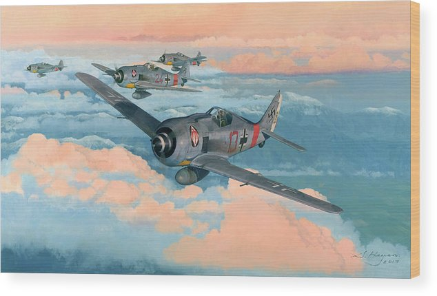 Spitfire Wood Print featuring the painting The Popular Leader by Steven Heyen
