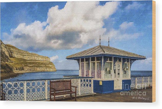 Llandundo Wood Print featuring the digital art Victorian Pier In Llandudno by M S McKenzie