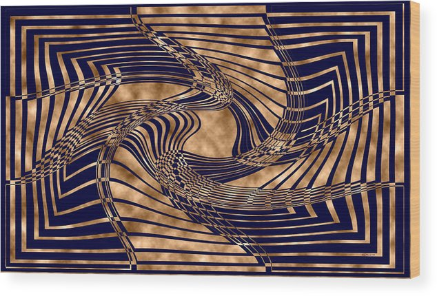 Black Wood Print featuring the digital art Where Too 3 by Evelyn Patrick