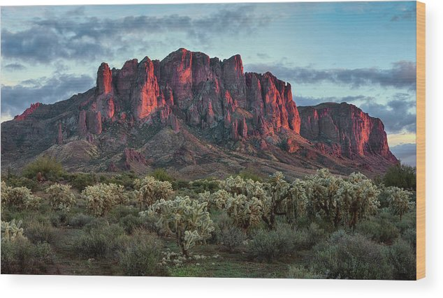 Lost Wood Print featuring the photograph Superstition Mountains Colors by Dave Dilli