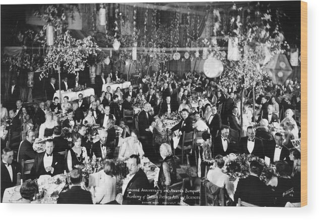 1929 Wood Print featuring the photograph Academy Awards, 1929 by Granger