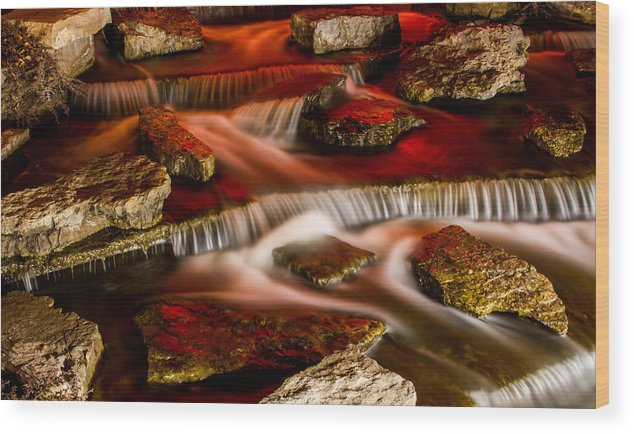 Landscape Wood Print featuring the photograph A River Runs Through It by Joshua Carelli