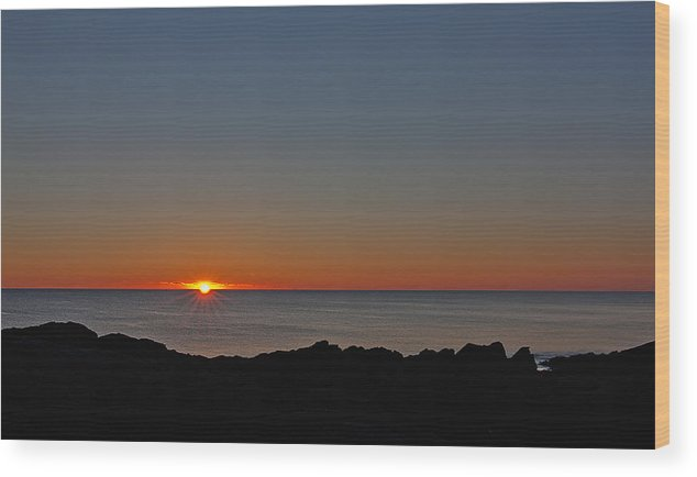New England Wood Print featuring the photograph Marginal Way Sunrise by Scott Snyder