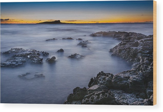 Sandy Beach Wood Print featuring the photograph Sandy Beach Sunrise At East Oahu by Tin Lung Chao