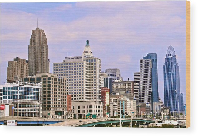 Wkrp Wood Print featuring the photograph Wkrp In Cincinnati by Frozen in Time Fine Art Photography
