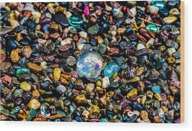 Pebbles Wood Print featuring the photograph Pebbles by Mitch Shindelbower