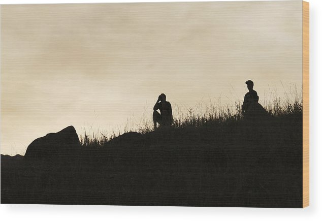 Rocky Wood Print featuring the photograph Observations by Marilyn Hunt