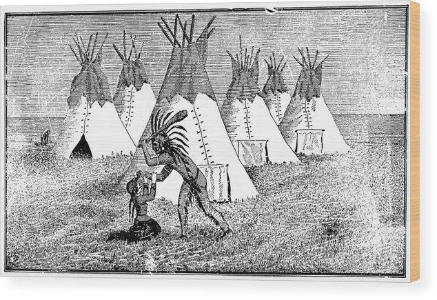1857 Wood Print featuring the photograph Spirit Lake Massacre, 1857 by Granger