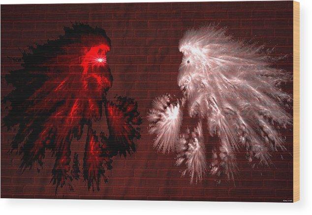 War Wood Print featuring the digital art Brick Graffiti by Evelyn Patrick