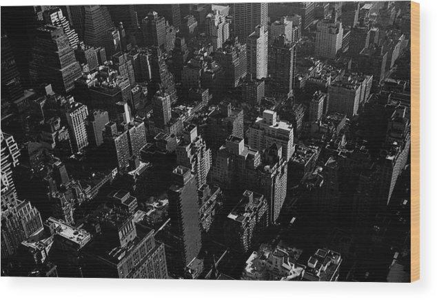Cities Wood Print featuring the photograph Manhattan by David Halperin