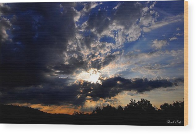 Sunrise Wood Print featuring the photograph Morning Sunrays by Noah Cole