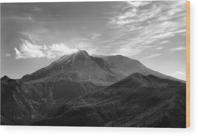 Landscape Wood Print featuring the photograph St. Helens by Ty Nichols