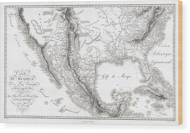 1811 Humboldt Map Of Mexico Texas Louisiana And Florida Wood Print on map of mississippi, map of new jersey, map florida louisiana, map of oklahoma, map of arkansas, map of virginia, map of florida, map of new york, early maps of louisiana, map of california, map of michigan, map of alabama, map of south carolina, map arkansas louisiana, map of rhode island, map alabama louisiana, map of tennessee, map of georgia, map of kentucky, map of new mexico,