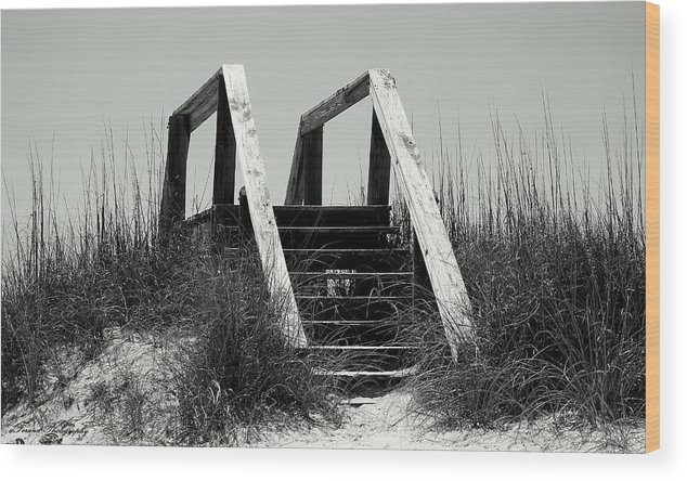 Beach Wood Print featuring the photograph Stairway To Heaven by Debra Forand