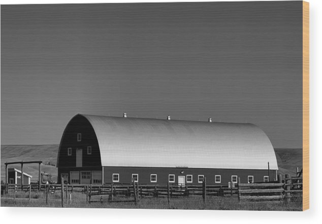 Barn Wood Print featuring the photograph Barn At Deer Lodge by Cathy Anderson