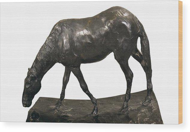 Horizontal Wood Print featuring the photograph Degas, Edgar 1834-1917. Horse by Everett