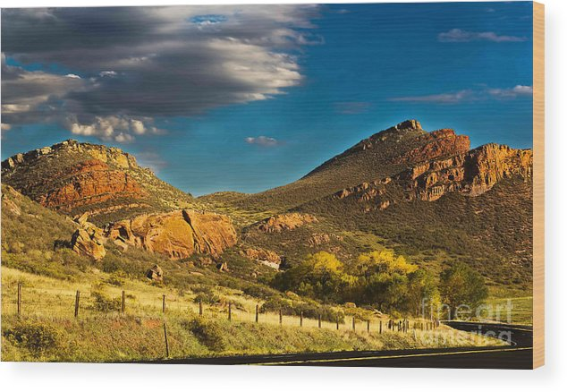 Hogbacks Wood Print featuring the photograph Evening Hogbacks by Jon Burch Photography
