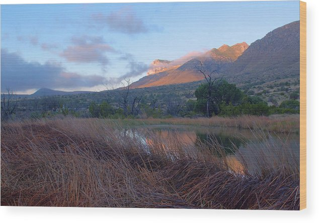 Guadalupe Mountains Wood Print featuring the photograph Guadalupe Mountains Sunrise by Stephen Vecchiotti