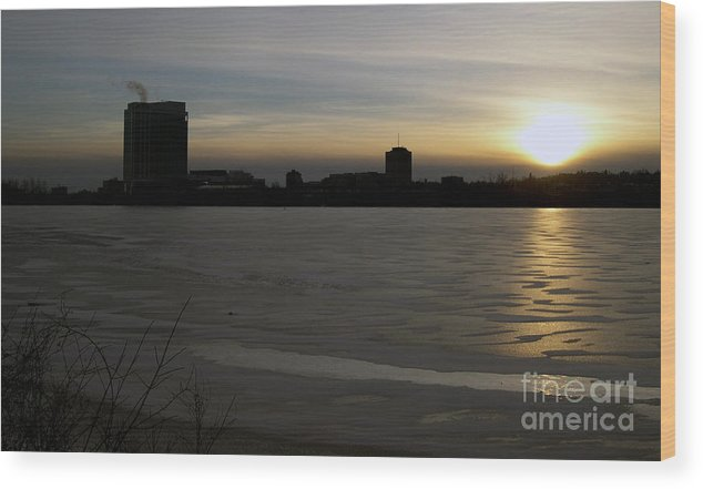 Landscape Wood Print featuring the photograph Ice And Fire by Andre Paquin