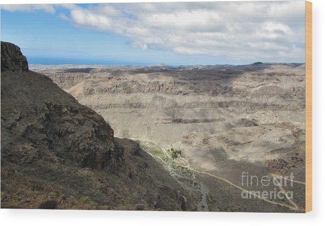 Amazing Colors Wood Print featuring the photograph Landscape-canarian Volcanic Mountains by Bozena Simeth