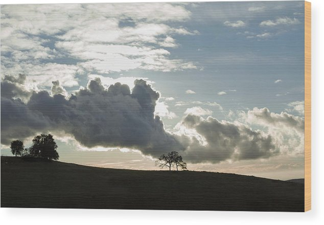 Clouds Wood Print featuring the photograph Low Clouds by Nian Chen