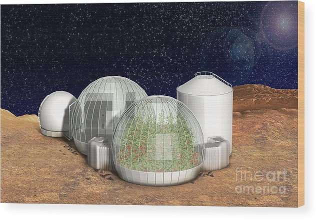 Base Wood Print featuring the photograph Mars Base, Artwork by Claus Lunau
